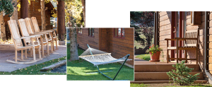 Montage – Rams Horn Benches and Hammocks