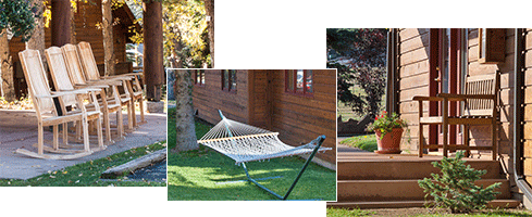 Triptych of Rams Horn Benches and Hammocks